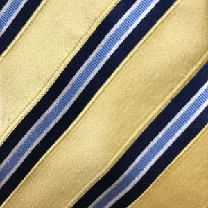 Banana Republic Yellow Stripe Silk Necktie A050718